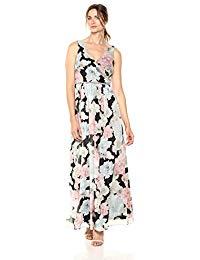 Sleeveless Bead Waist Maxi Dress
