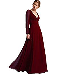 Special Occasion Chiffon Natrual Poet Long Sleeves Sheath Mother of The Bride Dress