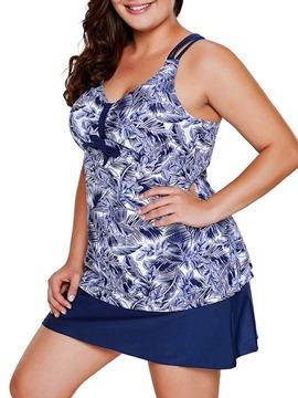 Floral Tankini Set Plus Size Swimwear