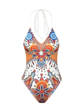 Print Sexy Geometric Swimwear