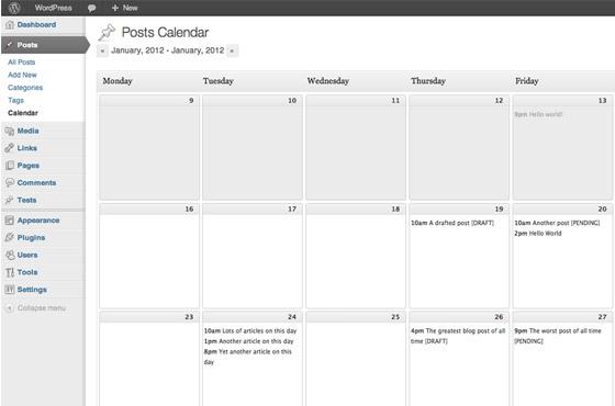 plugin wordpress editorial calendar