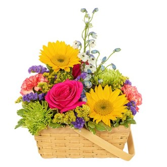 Homepage   Cute Flowers   Gifts Sunshine Basket