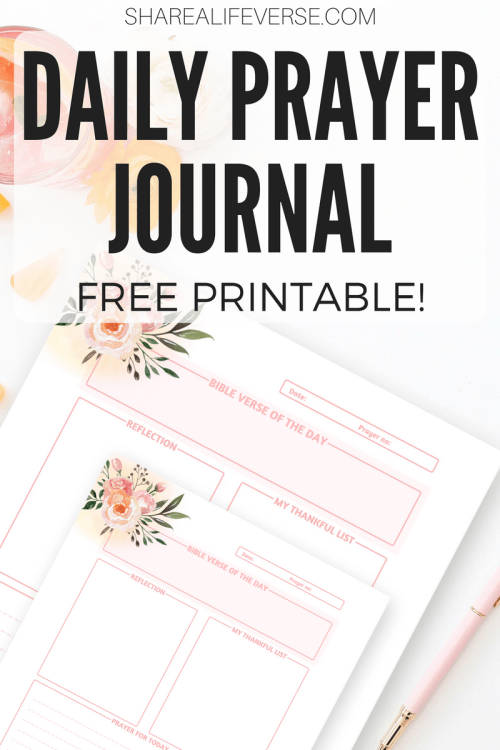 get your free printable daily prayer journal with space for bible verse reflection
