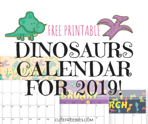 FREE Printable Dinosaurs Monthly Calendar for 2019! Super cute calendar printable with dinosaurs patterns to make you smile each day. Get your free download now! #freeprintable #printableplanner #cutefreebies