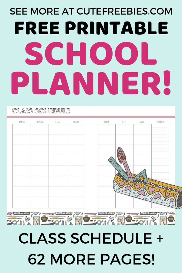 picture about Printable Student Planner Download named Totally free Higher education Planner Printables For 2019-2020! - Lovely