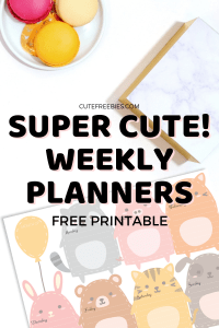 Weekly Planner Free Printable PDF - super cute designs! Choose from our free printable weekly planners and get your free download. #cutefreebies #weeklyplanner #bujoweekly #printableplanner #weeklyspread #bulletjournalweekly