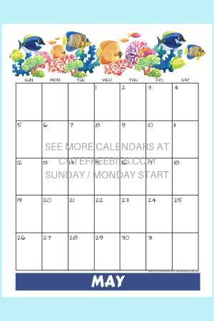 May 2019 Calendar Printable With Bullet Journal Themes