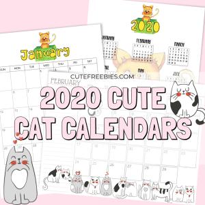 Free 2019/2020 Calendar Planner Printables - Cute Freebies