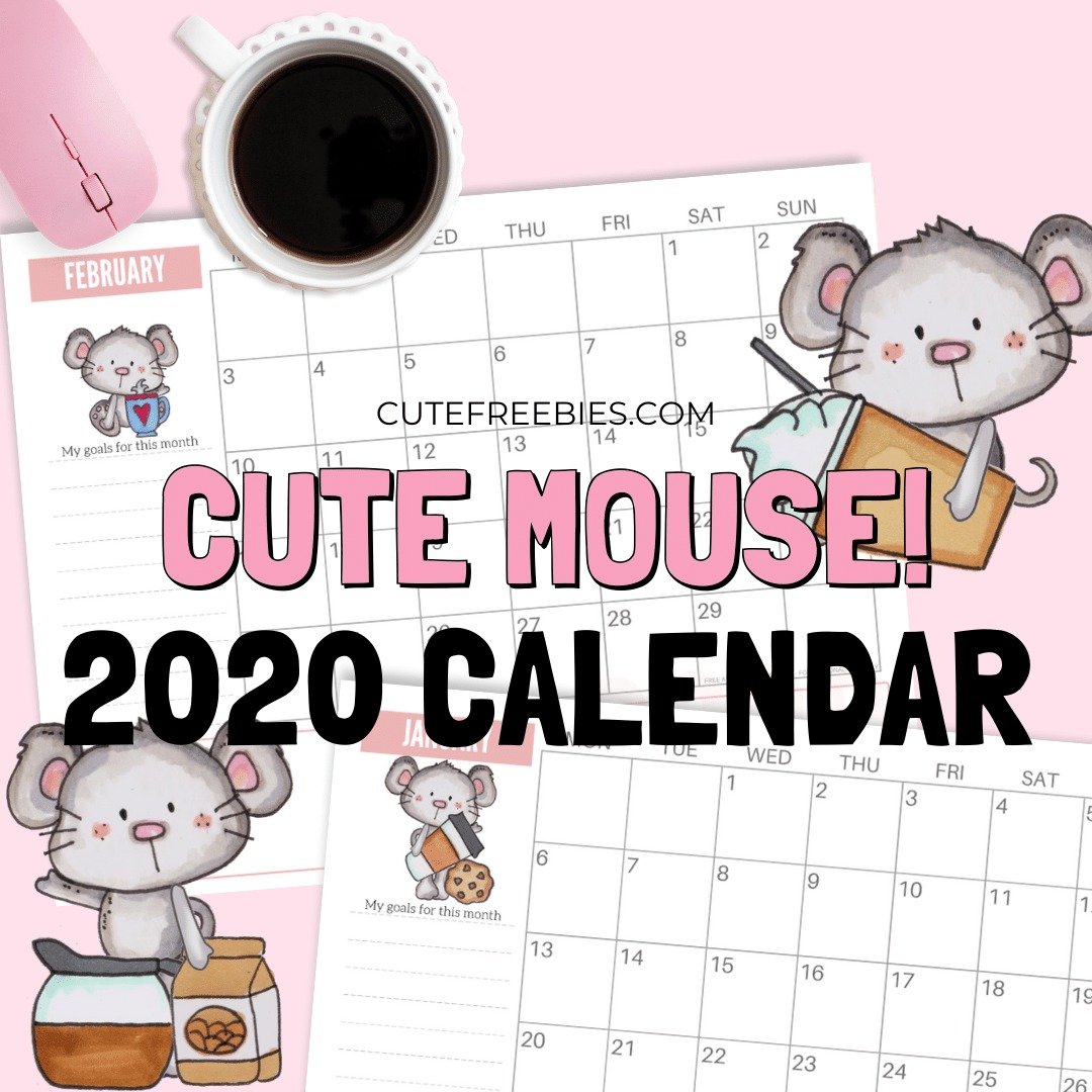 2020-year-of-the-rat-mouse-calendar - Cute Freebies For You