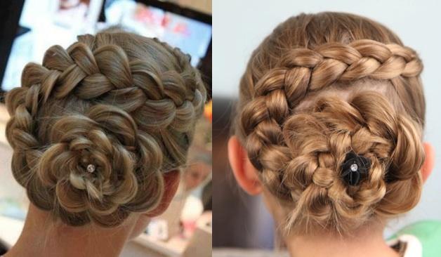 fryzura upięcie z warkoczem