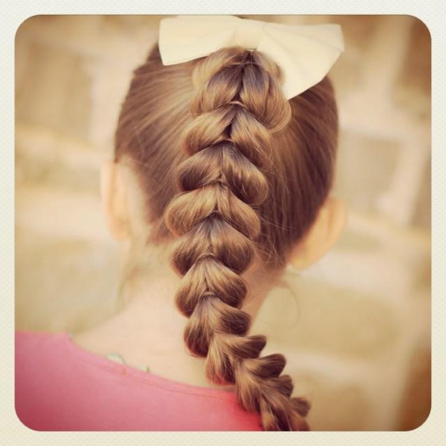 pull-through braid   easy hairstyles   cute girls hairstyles