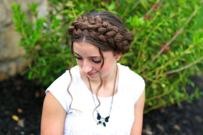 milkmaid braid | cute summer hairstyles | cute girls hairstyles