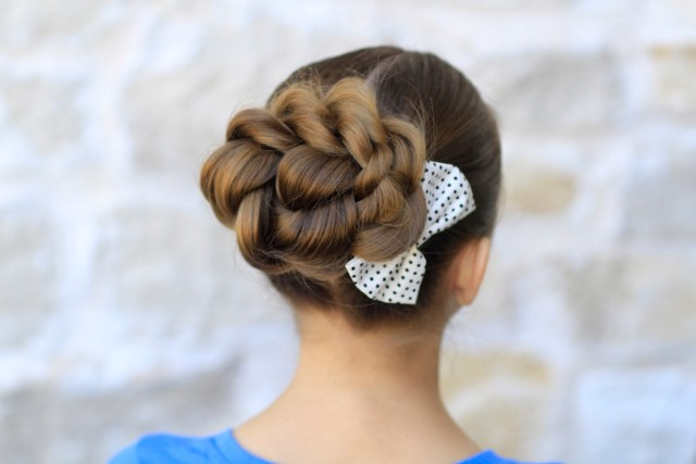 rope twisted bun | hairstyles for prom | cute girls hairstyles