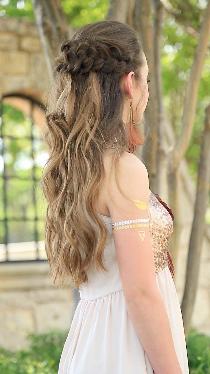 braided half up | prom hairstyles | cute girls hairstyles