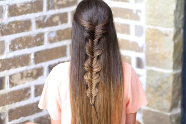 the no-band bubble fishtail braid | cute girls hairstyles