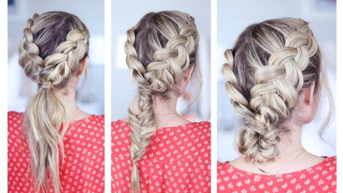 3-in-1 double dutch braids | cute girls hairstyles