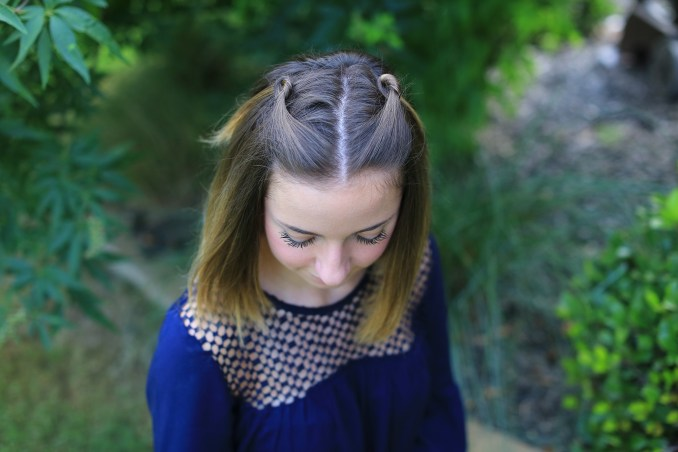 double knot pullback   cute girls hairstyles