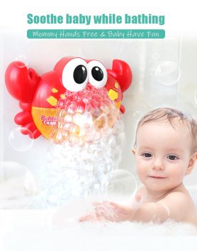 crab bubble bath toy