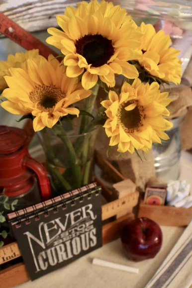 back to school tablescape