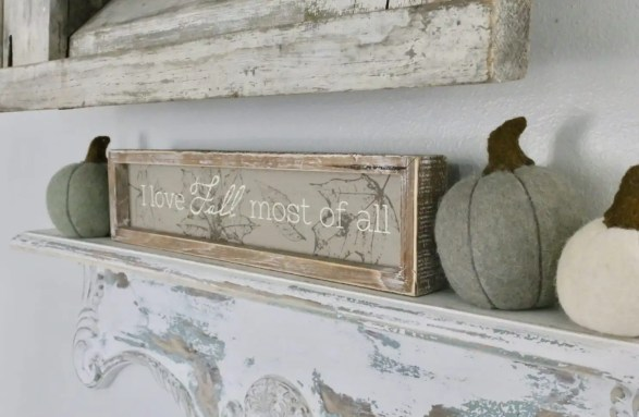 I love Fall most of all' sign from Krumpets Home Decor