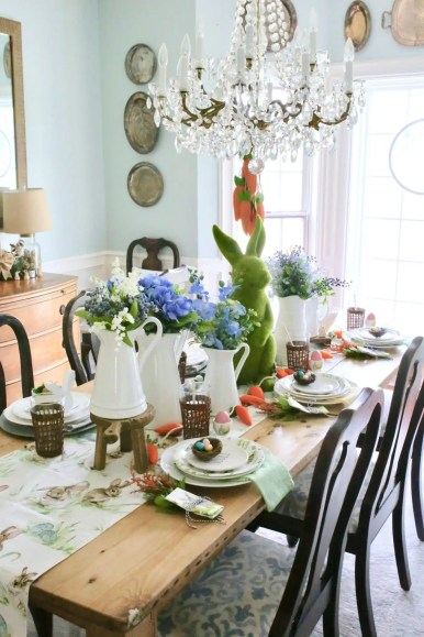 kid friendly easter tablescape