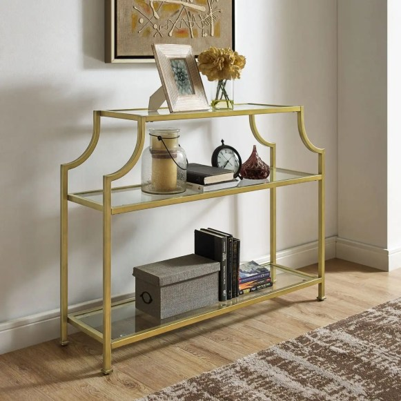 gold modern style console table