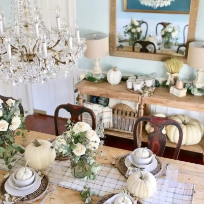 A farmhouse inspired tablescape with Bed Bath and Beyond's new line of home decor