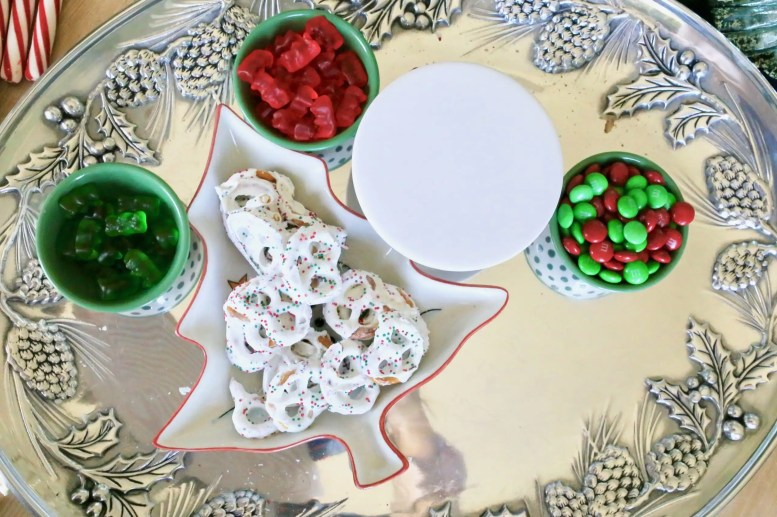 1. Place small candies in decorative bowls.