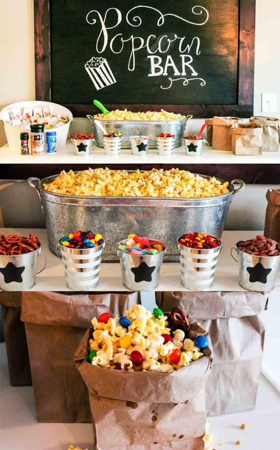 Christmas Popcorn Tin Home