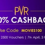 Get 100% cashback on PVR Movie vouchers worth Rs.100- From CrownIt APP(LIve Now)