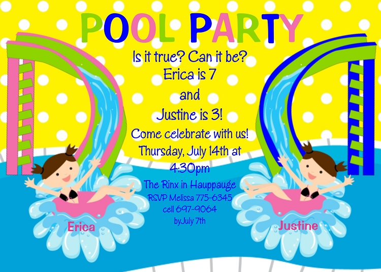 pool party water slide birthday
