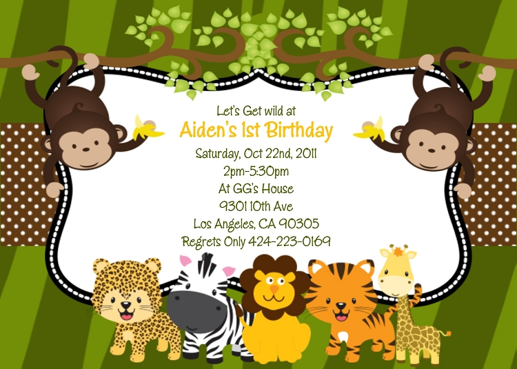 jungle safari animals birthday party