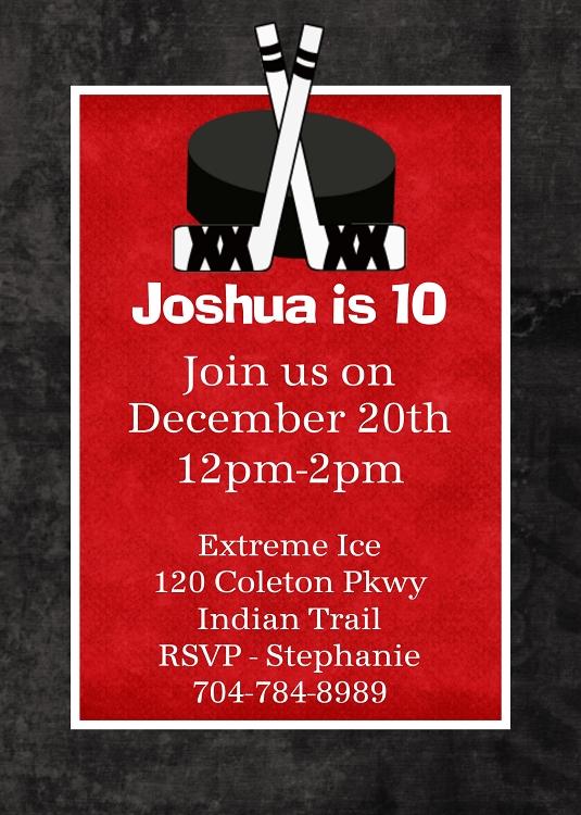 birthday party invitations hockey Cogimbous – Hockey Birthday Party Invitations