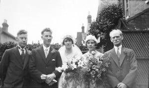 Alec and Cissie's wedding, 1930