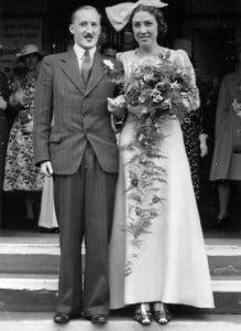 Eric and Vera's wedding, 1940