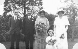 Jack and Peggy's wedding, 1933