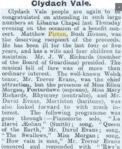 Rhondda Leader Matthew Picton benefit concert_31Mar1906