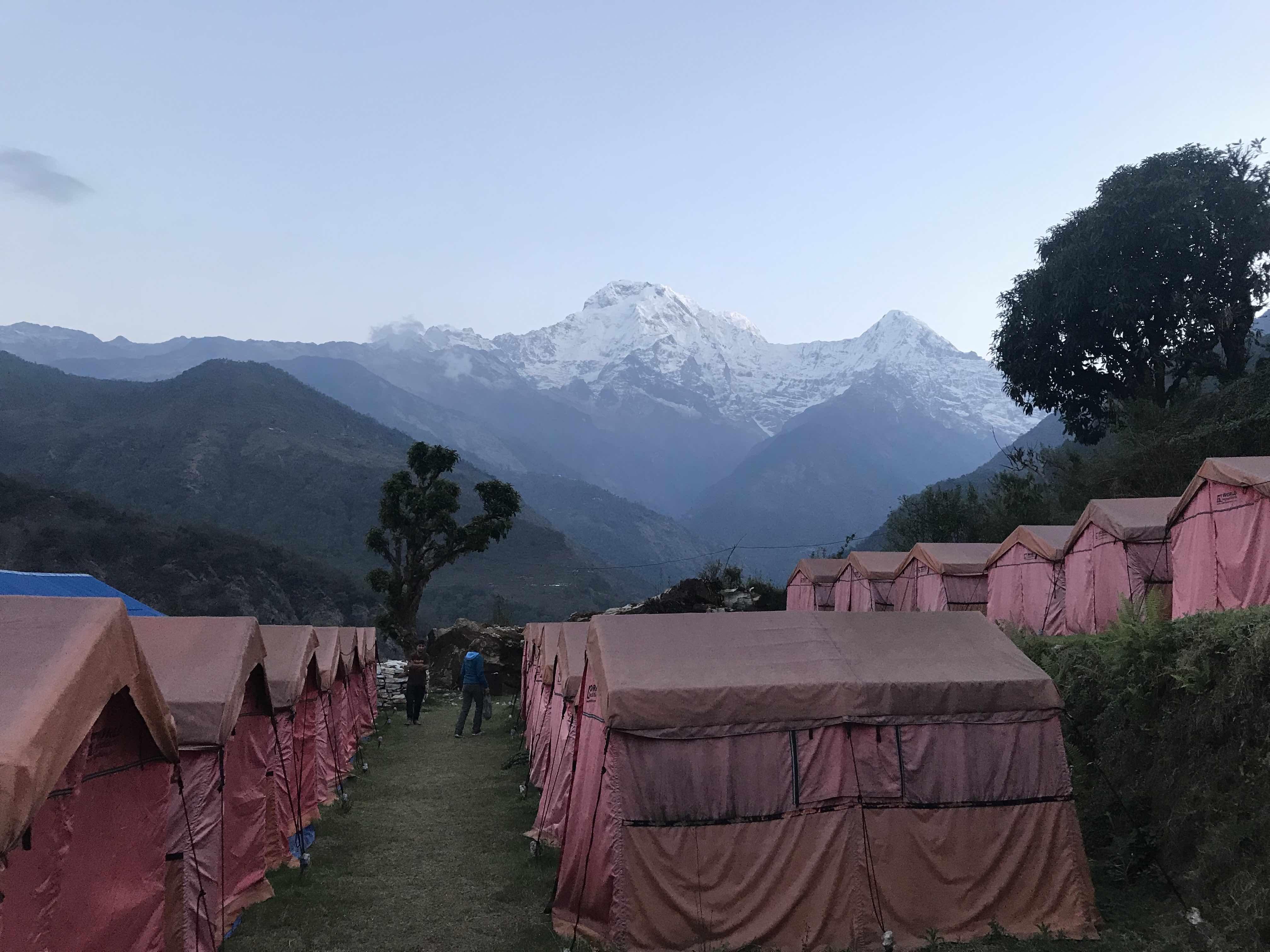 Annapurna South from Campsite