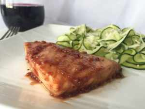 easy balsamic roasted salmon old photo