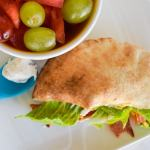BLT Pitas with homemade herbed mayo