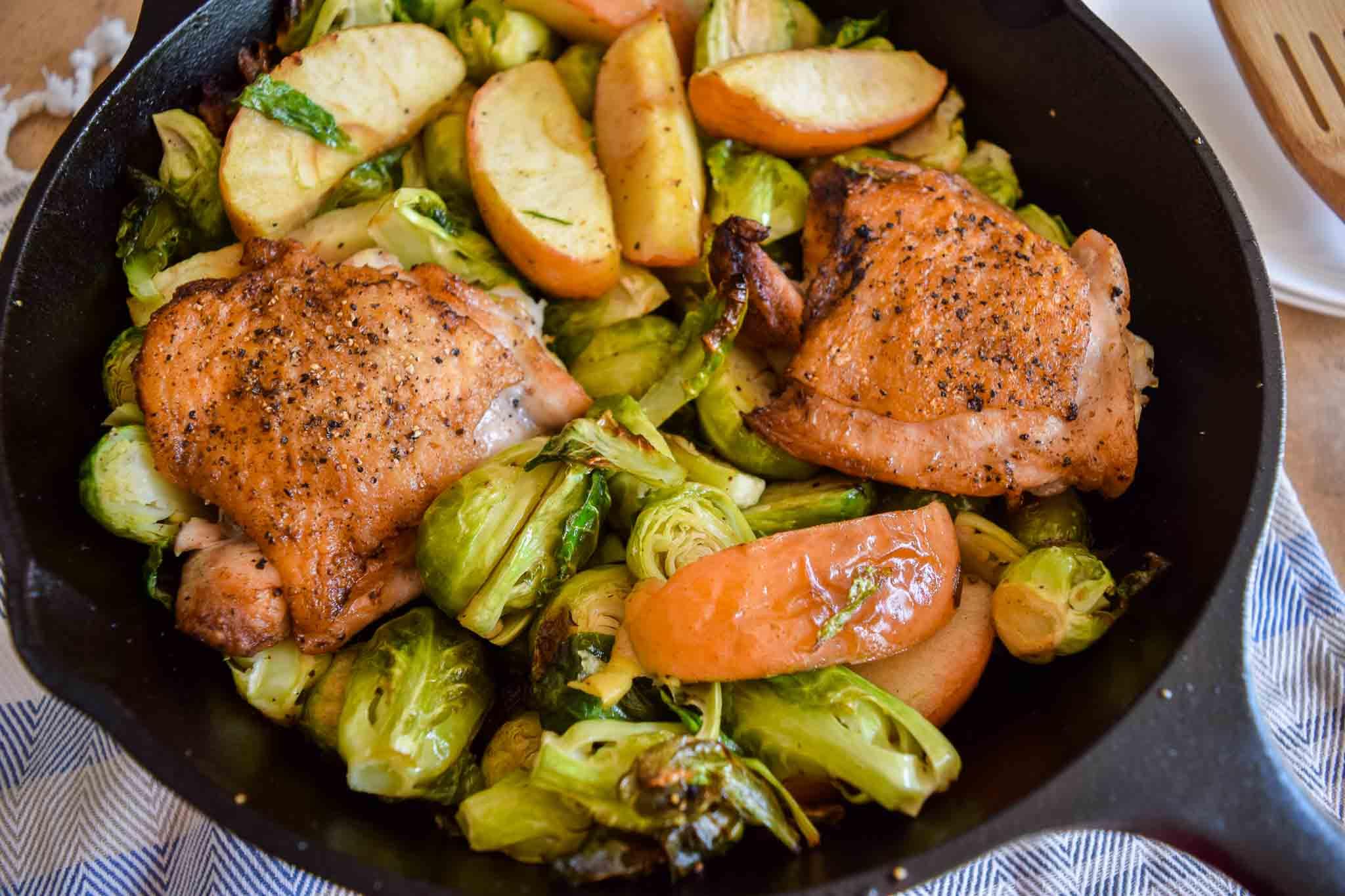 one pan healthy chicken dinner