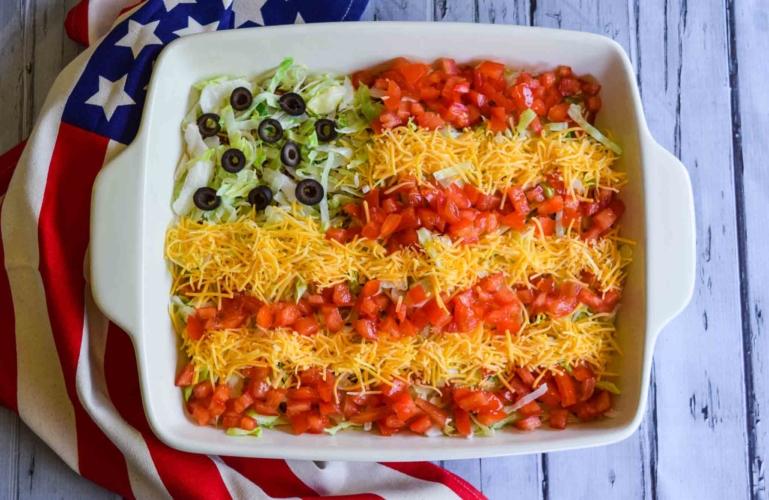 taco dip flag