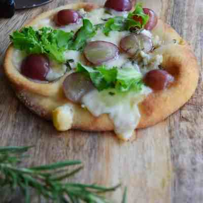 Grape, Fontina, Blue Cheese, Arugula Flatbread