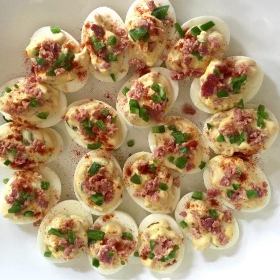 jalapeño bacon deviled eggs