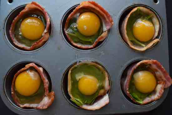 bacon and cheese omelette cups