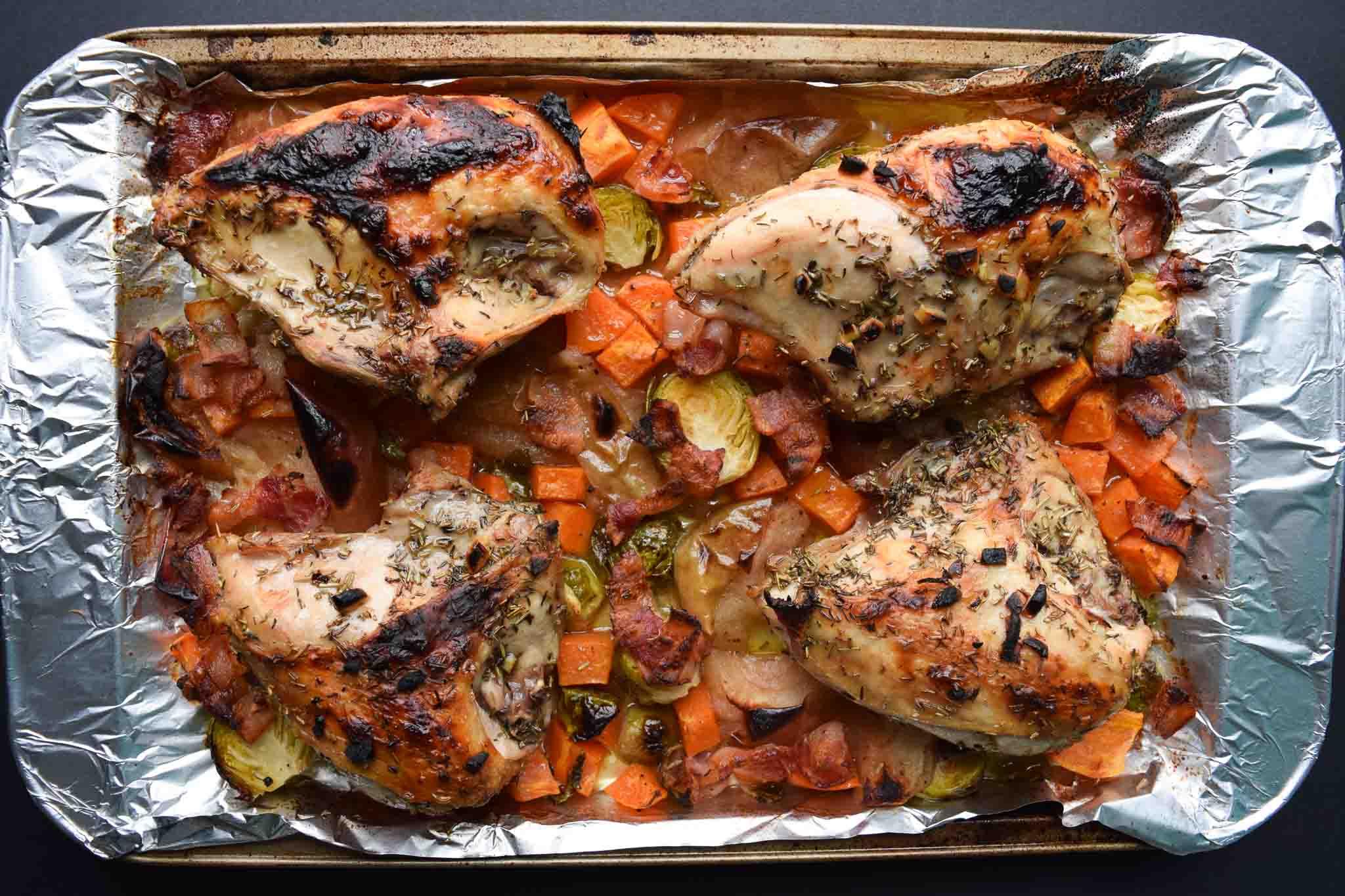 one pan harvest chicken