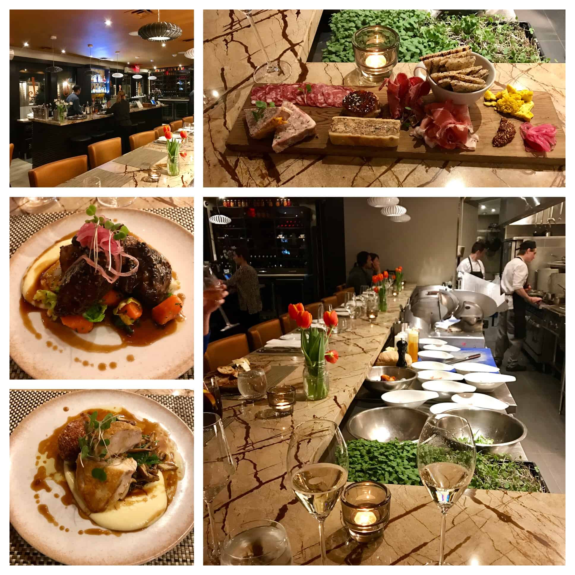 Collage of images from Treadwell Restaurant