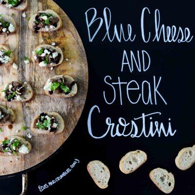 Blue Cheese and Steak Crostini