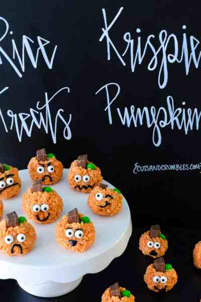 Rice Krispie Treats Pumpkins
