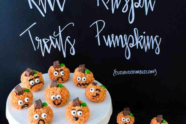 Rice Krispie Treats Pumpkins